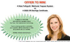 Hair Loss Treatment Savings Certificate